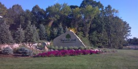 Entrance Monument to Taylor Creek, Luxury Home Development of Plymouth, MN is Completed!