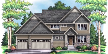 new luxury spec home in Cedarcrest of Maple Grove MN